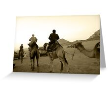 Rush Hour in the Desert - Wadi Rum, Jordan Greeting Card