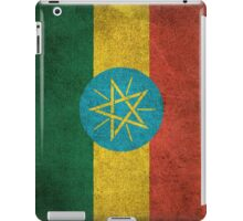 Old and Worn Distressed Vintage Flag of Ethiopia iPad Case/Skin