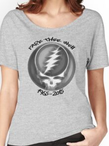 """Grateful Dead """"Fare Thee Well"""" Steal Your Face GD50 Stealie Women's Relaxed Fit T-Shirt"""