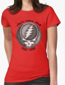 "Grateful Dead ""Fare Thee Well"" Steal Your Face GD50 Stealie Womens Fitted T-Shirt"
