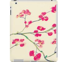 Pink red cherry blossoms painting iPad Case/Skin