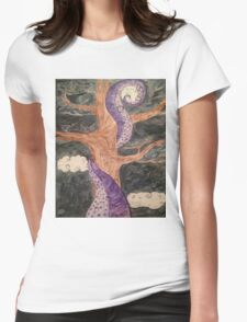 The Octopus and the Oak Tree  Womens Fitted T-Shirt