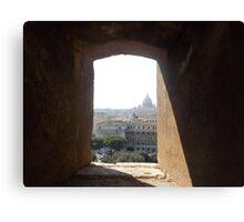Framing Rome Canvas Print