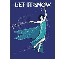 Let it Snow Photographic Print