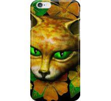 Vintage Golden Cat iPhone Case/Skin