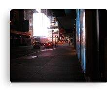 They Say the Neon Lights are Bright on Broadway Canvas Print