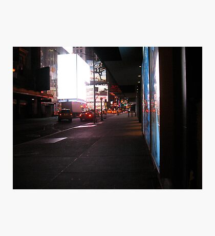 They Say the Neon Lights are Bright on Broadway Photographic Print