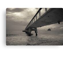 Sea Pier Canvas Print