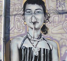 Wall art showing she nose how... by DAdeSimone