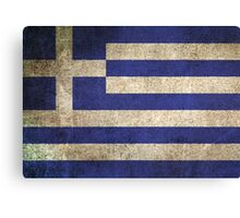 Old and Worn Distressed Vintage Flag of Greece Canvas Print