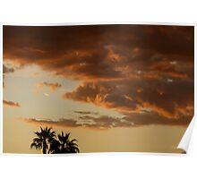 Sunset in AZ. Poster