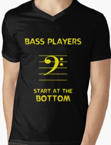 Bass Players Start at the Bottom Mens V-Neck T-Shirt
