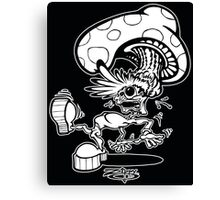 Zippy Shroom Head Character Canvas Print