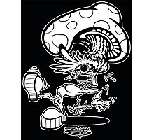 Zippy Shroom Head Character Photographic Print