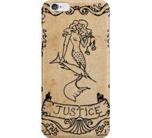 Mermaid Tarot: Justice iPhone Case/Skin