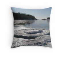 Heron Bay Ontario - Wharf Road - Lake Superior Throw Pillow