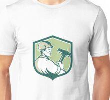 Demolition Worker Sledgehammer Shield Retro Unisex T-Shirt