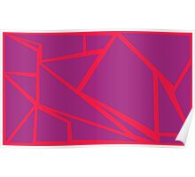 purple on red crash Poster