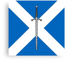 Claymore on Saltire Canvas Print