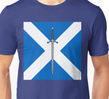 Claymore on Saltire Unisex T-Shirt