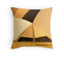 Golden Sails - Sydney Opera House Throw Pillow