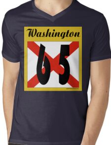ALABAMA:  65 WASHINGTON COUNTY Mens V-Neck T-Shirt