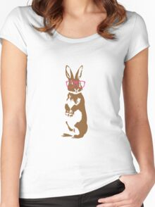 Hipster Bunny Women's Fitted Scoop T-Shirt