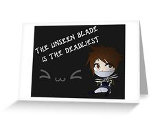 Chibi Zed Greeting Card