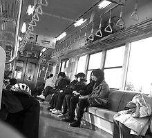 Train to Fukushima, Japan Christmas 2007 by blakepack