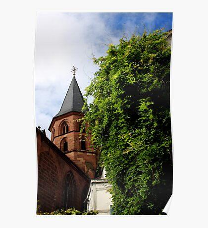 Historical Abbey Church Kaiserslautern Poster