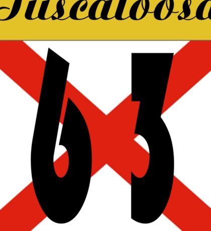 ALABAMA:  63 TUSCALOOSA COUNTY Sticker