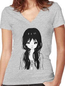 Pout Women's Fitted V-Neck T-Shirt