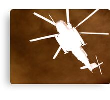 Gunship overhead Canvas Print