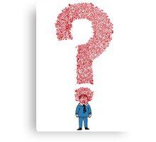 Question Boy Metal Print