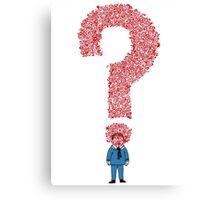 Question Boy Canvas Print