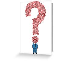 Question Boy Greeting Card