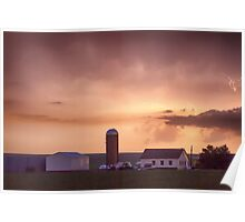 Evening Country Storm Poster