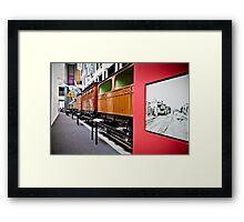 History of Train in Australia Framed Print