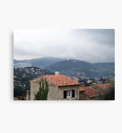 Misty day of February Canvas Print