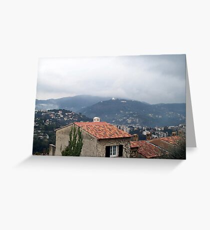 Misty day of February Greeting Card