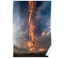 Fire Sword, Mokoia Island. Poster