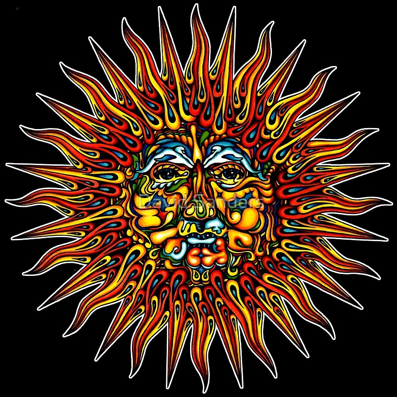 Quot Psychedelic Sun Quot By David Sanders Redbubble