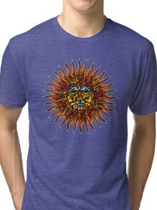 Psychedelic Sun Tri-blend T-Shirt