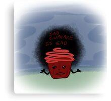 Sad Cupcake is Sad Canvas Print