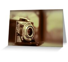 Vintage Zeiss Ikon film camera Greeting Card