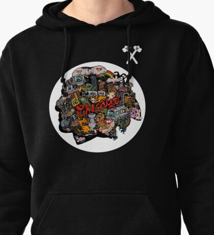 Chicago Logo 3 Pullover Hoodie