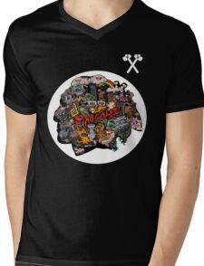 Chicago Logo 3 Mens V-Neck T-Shirt