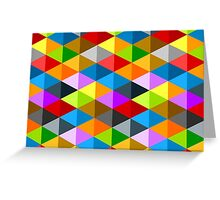 Modern funky colorful triangles pattern Greeting Card