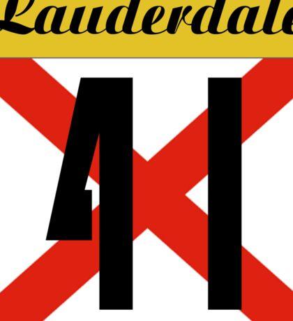 ALABAMA:  41 LAUDERDALE COUNTY Sticker