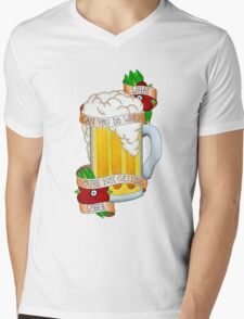 Beach Community Mens V-Neck T-Shirt